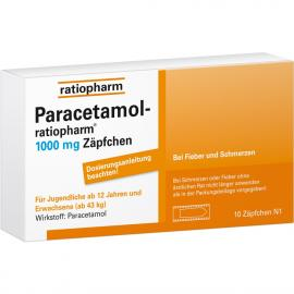 PARACETAMOL RATIO 1000MG SUPPOSITORIEN 10ST